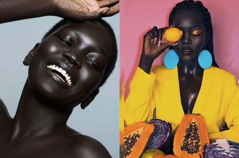 Meet The Viral Model Hailed As The 'Queen Of Dark' Thanks To Her Exotic Skin Tone