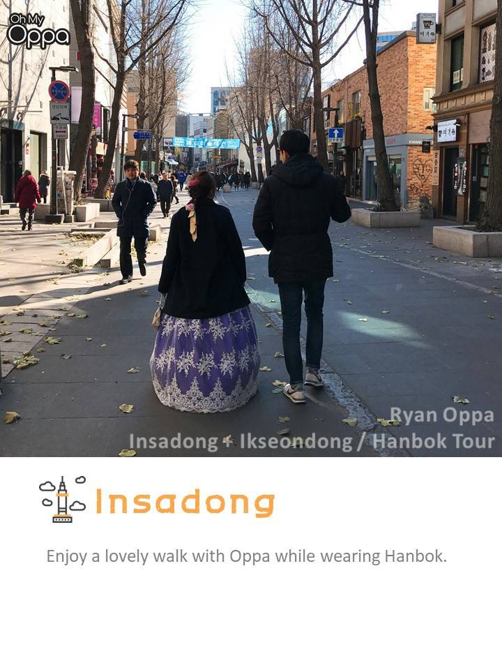 You can even rent a hanbok on walk around with your oppa for a more authentic Korean date.