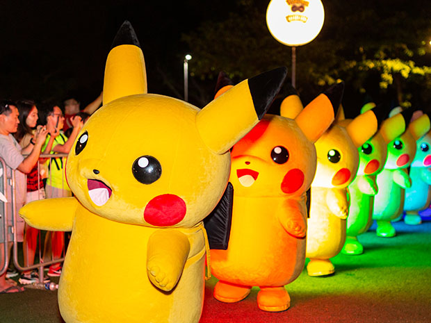 The event that everyone is looking forward to - Pikachu parade!