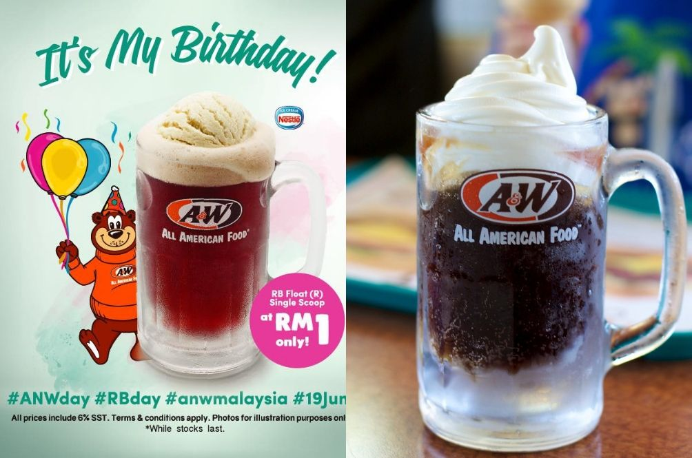 Enjoy A&W's Iconic Root Beer For Only RM1 During Their Birthday On 19 June!