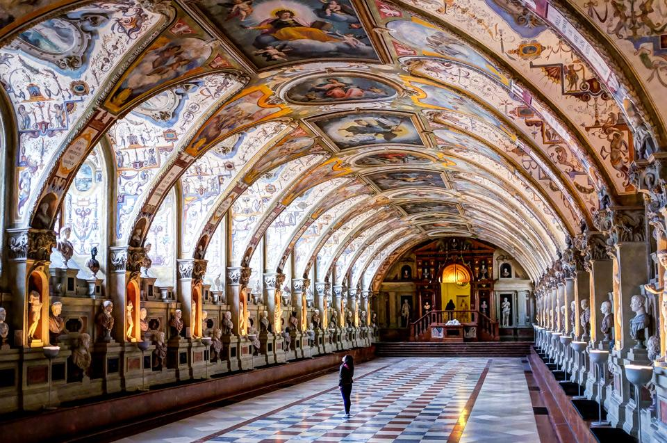Intricate beauty of the interior of Royal Palace, Munich.