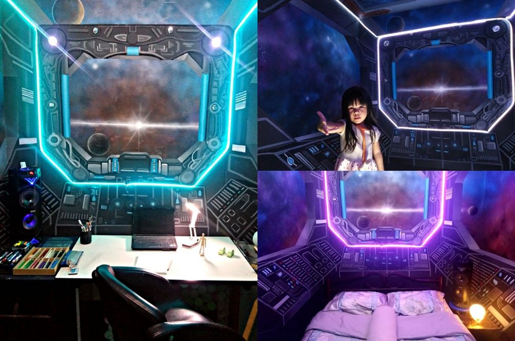 Malaysian Man Transforms His Room Into A Cool Spaceship To Kill Time During MCO