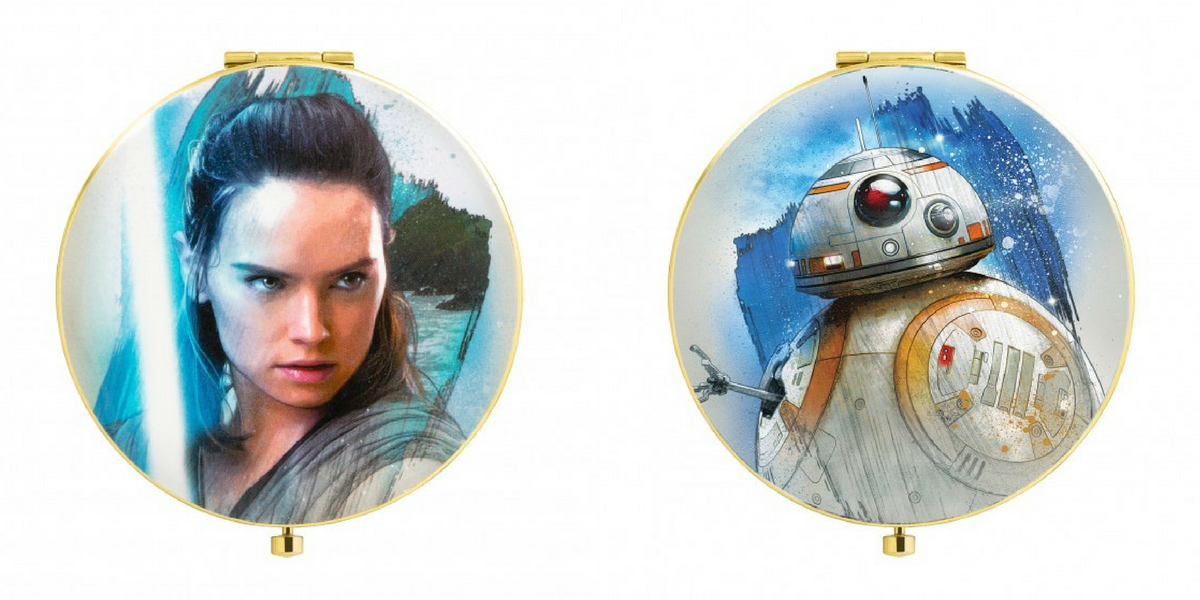 Rey has a look on her face that looks like she knows you're slaying your makeup.