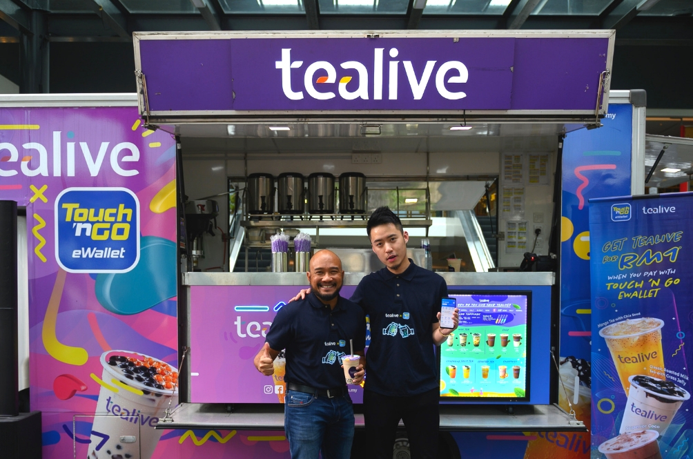 Tealive Partners With Touch 'n Go So That You Can Buy More Bubble Tea At A Cheaper Price!