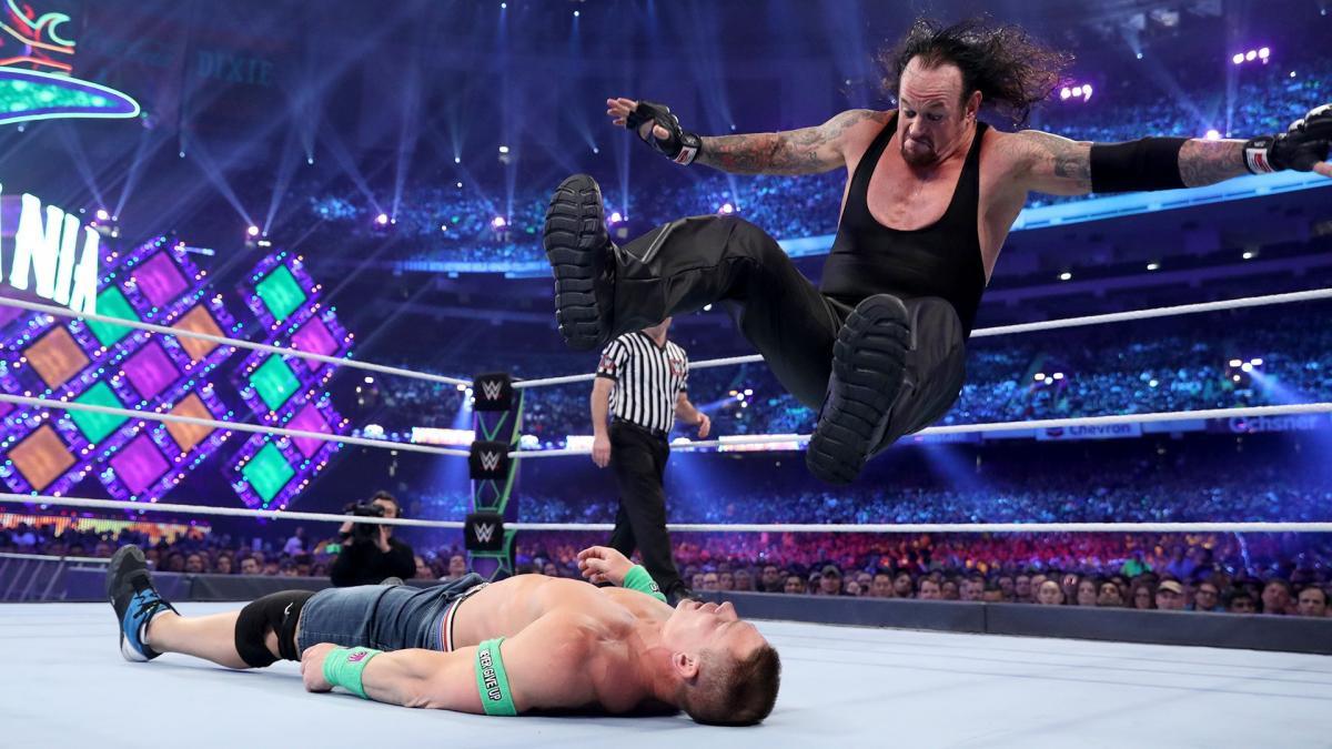 The Undertaker VS John Cena.