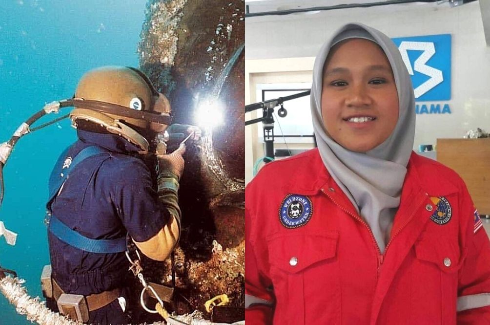 Meet Malaysia's First Female Underwater Welder Who's Only 22-Years-Old!