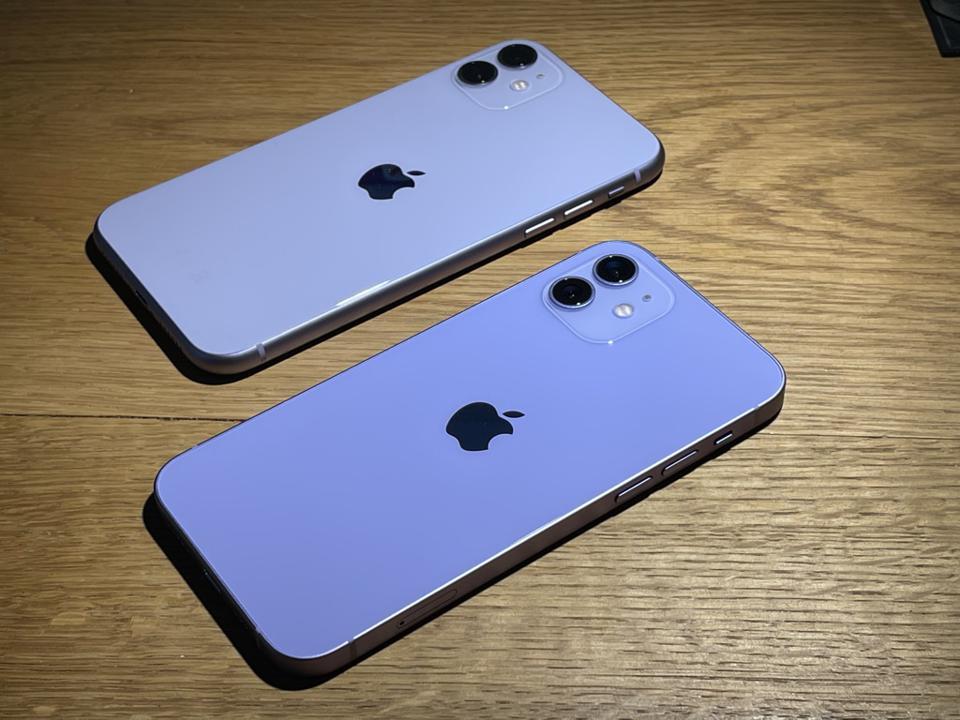 iPhone 11 purple vs iPhone 12 purple.