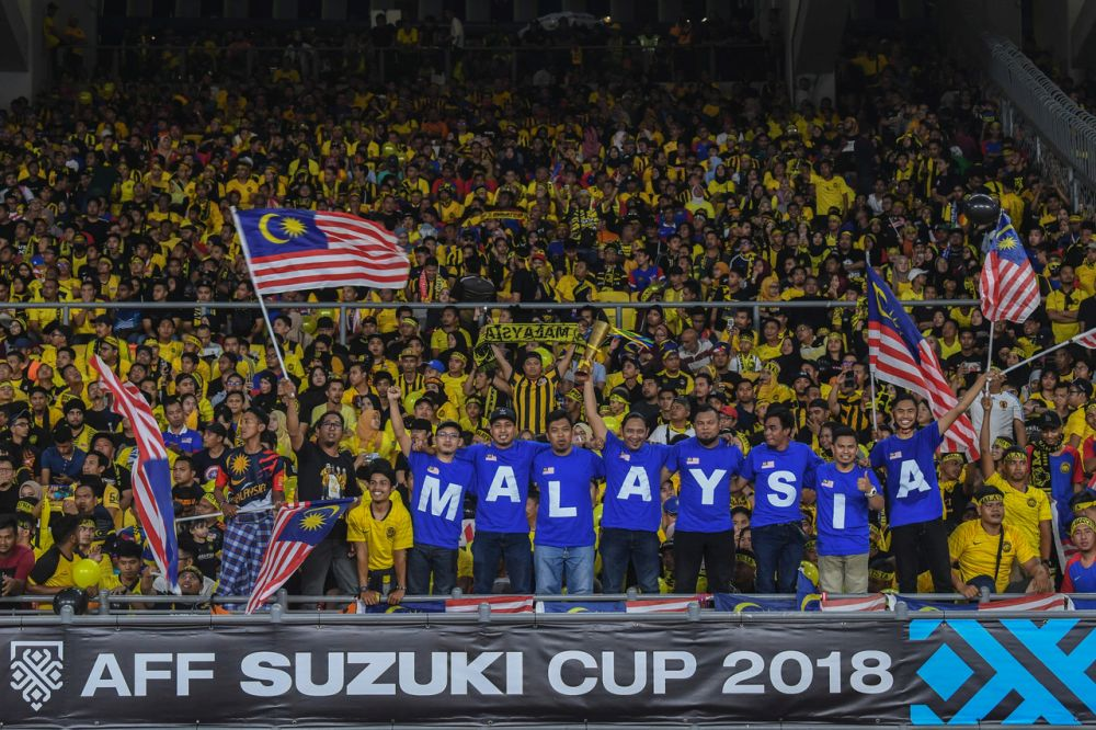 Fans came decked in all sorts of outfits to support our Harimau Malaya.