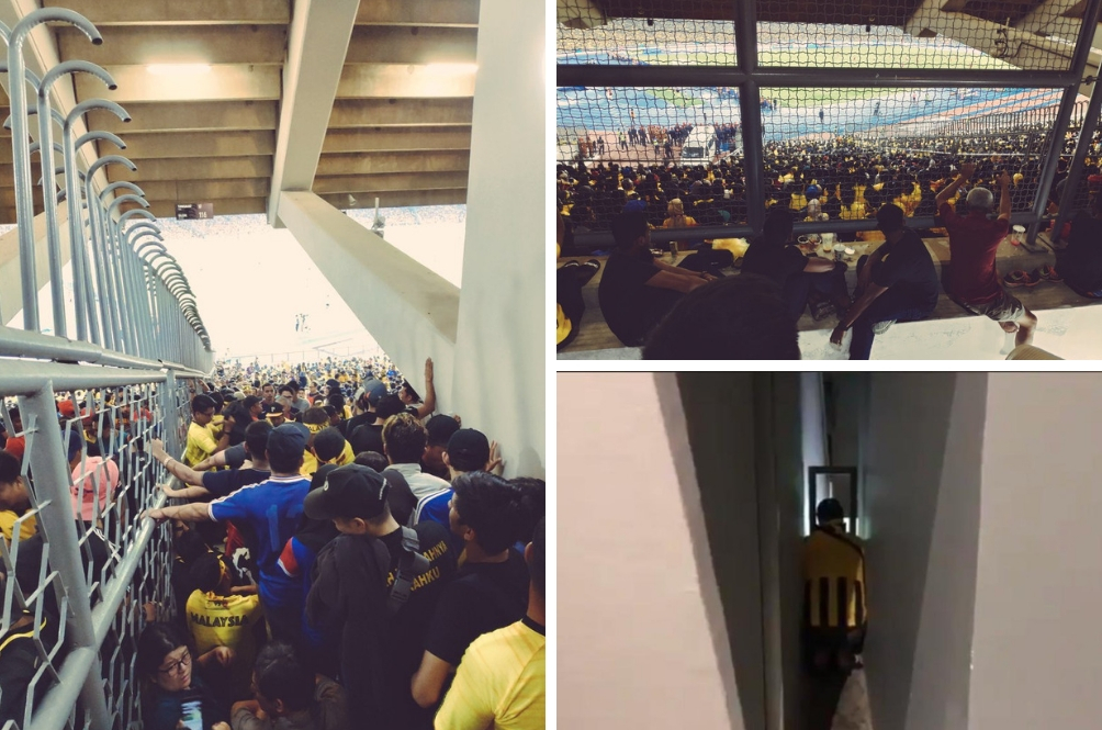 Malaysians Risk Their Lives To Watch The AFF Cup Finals At The Bukit Jalil National Stadium