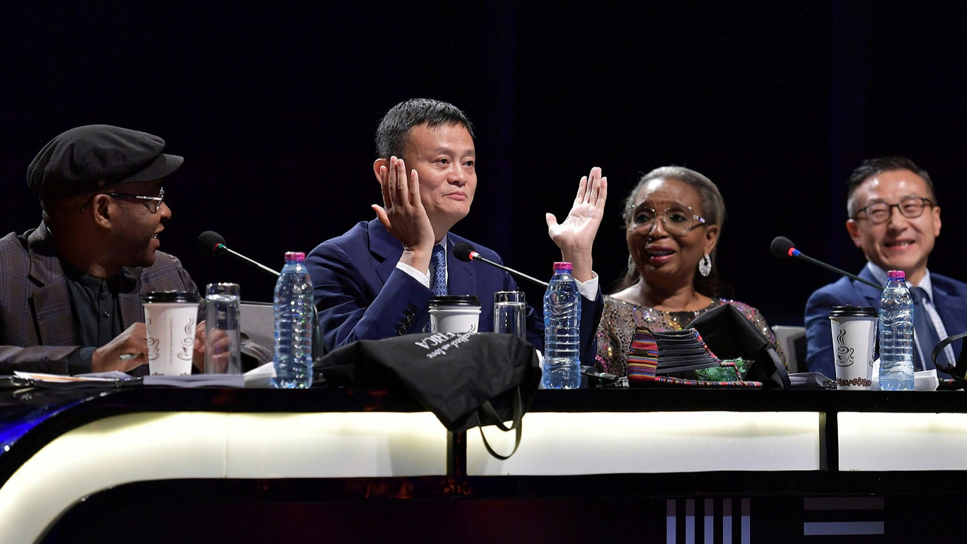 Jack Ma judging the show.