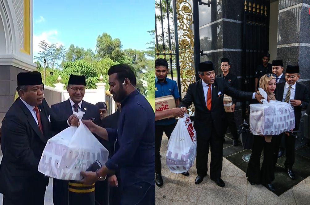 Agong Treats Media Members With KFC, M'sians Think There's A Secret KFC Inside The Palace