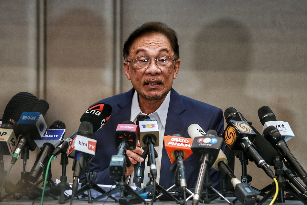 Anwar during his press conference today.
