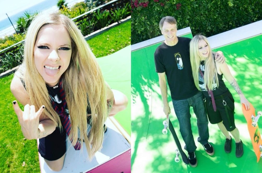 After 19 Years, Avril Lavigne Recreates Her 'Sk8er Boi' Music Video With A Skater Boy – Tony Hawk