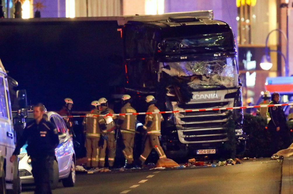 Truck Rams into Berlin Christmas Market, Killing At Least 12 And Injuring Dozens
