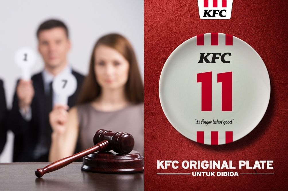 Missed Your Chance To Bid For 'KFC' Car Plate? Now You Can Bid For Actual KFC Plates Instead!