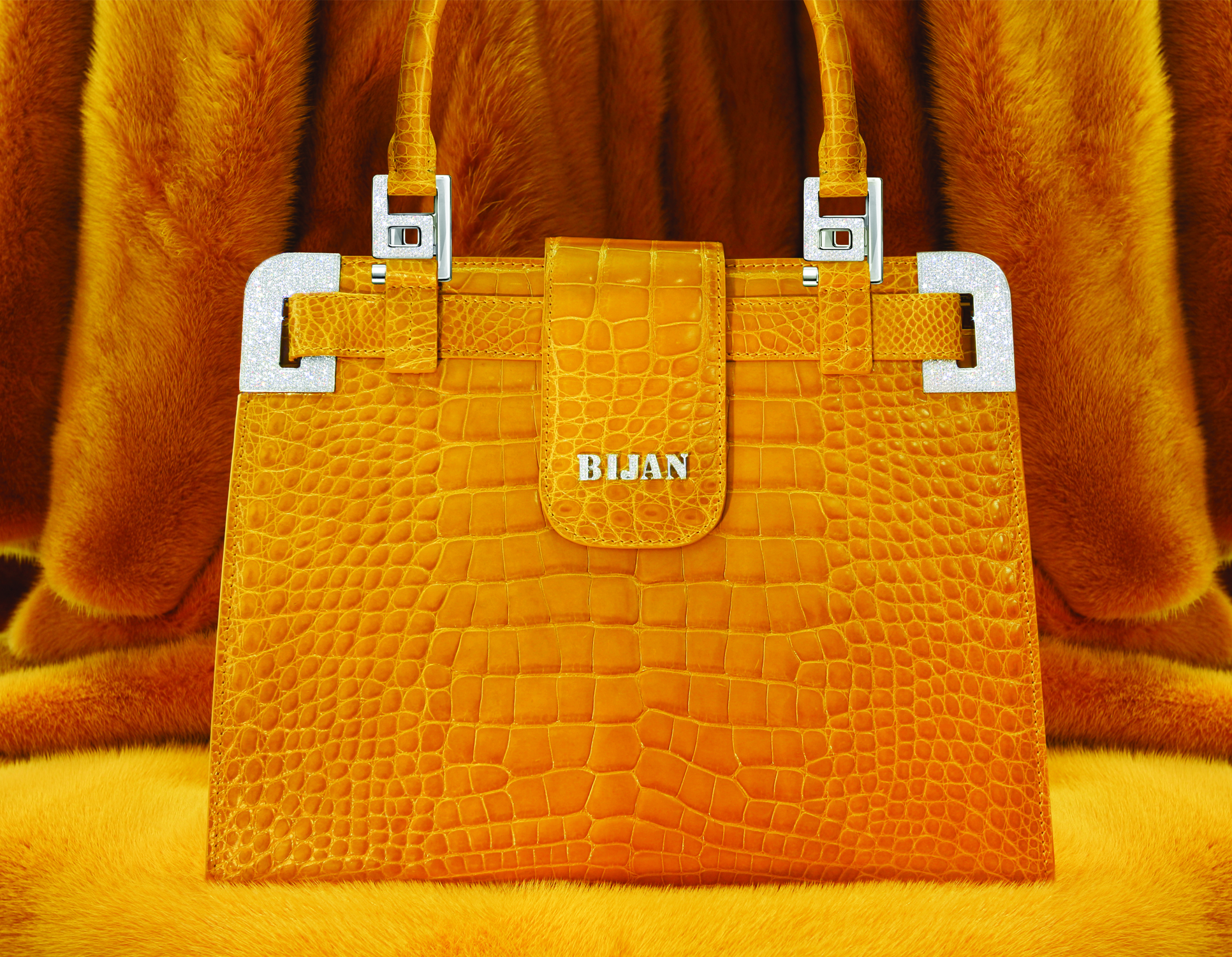 This isn't the seized Bijan bag, but it's an example of one of the bags they sell.