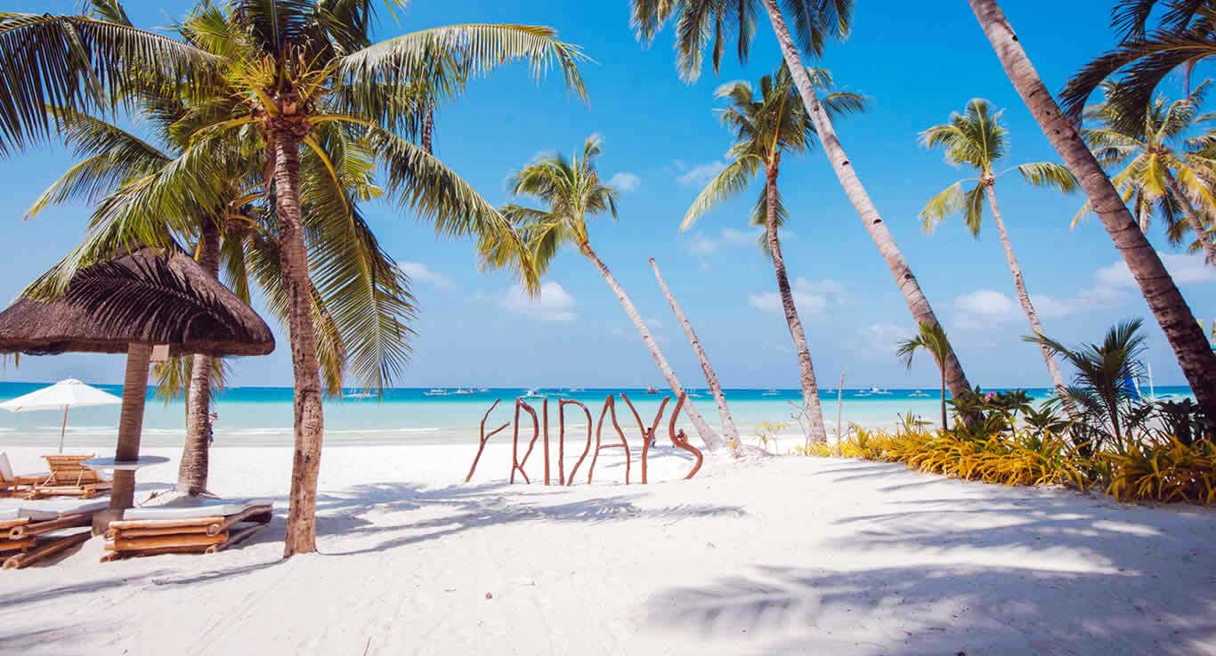 Yes, Friday please come fast. We want to dream of an island getaway over the weekend.