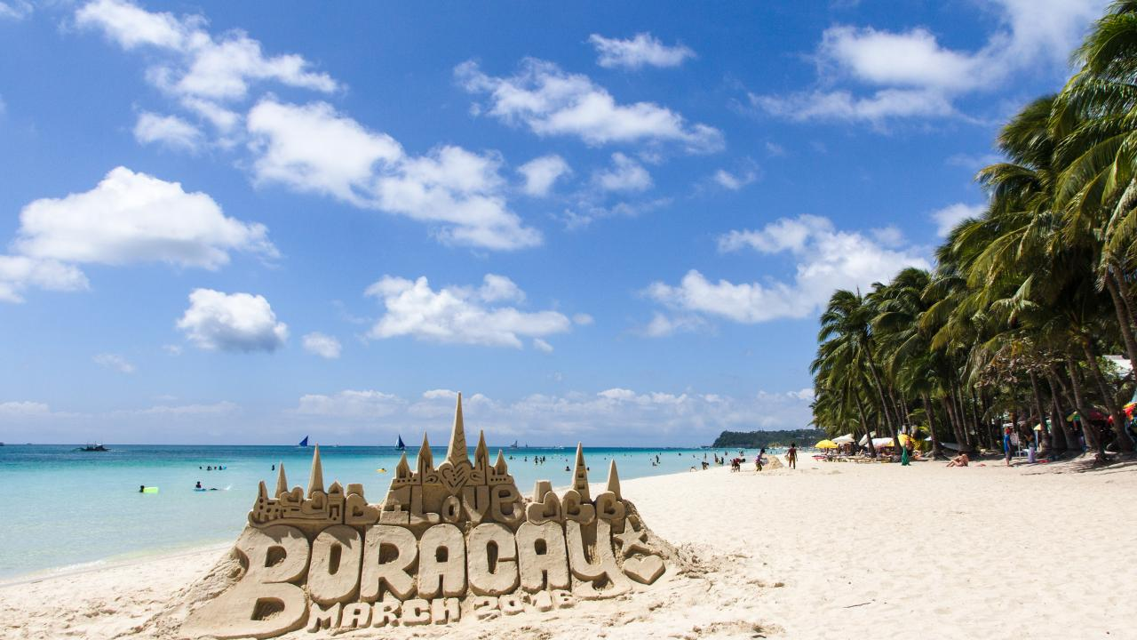 The sandcastles have become a signature of the beaches in Boracay.