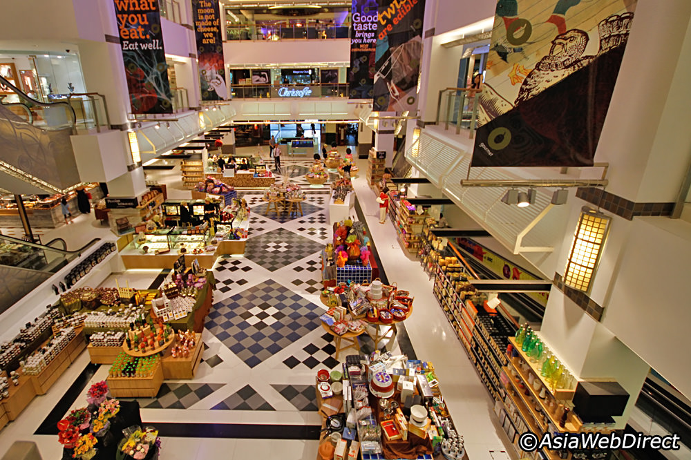 The Origani store is located on the ground floor of the mall.