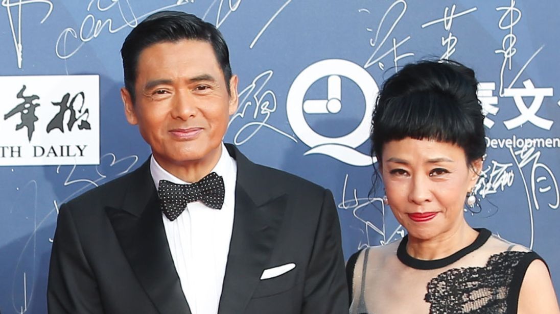 Chow Yun Fat and his wife Jasmine Tan.