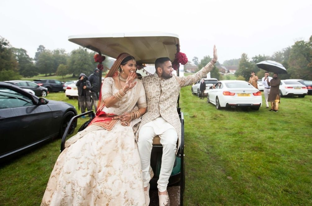 COVID-19: Couple In England Hold Drive-In Wedding, Guests Watch Them On A Big Screen