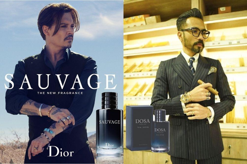 Netizens Accuse Wak Doyok Of Plagiarising Dior's Sauvage Perfume