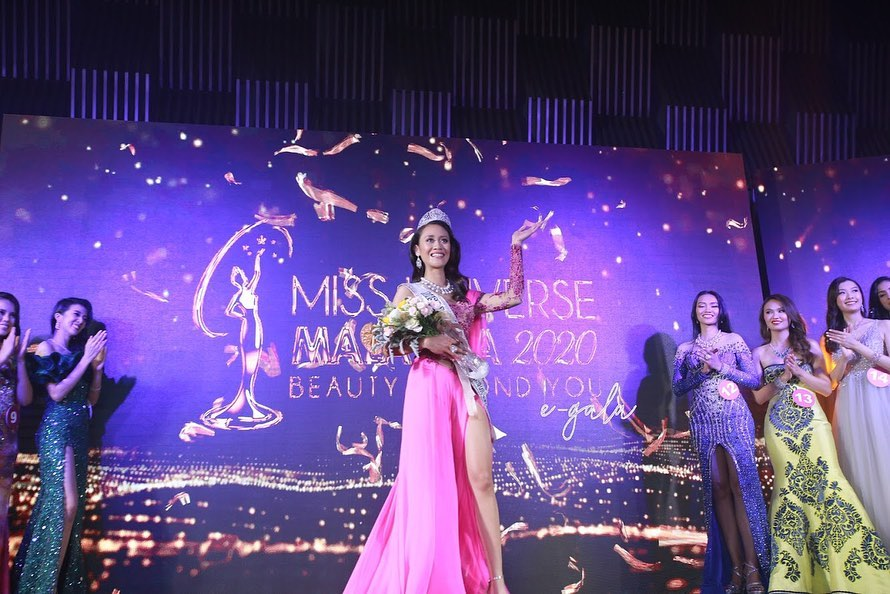 The first Dayak Miss Universe Malaysia.