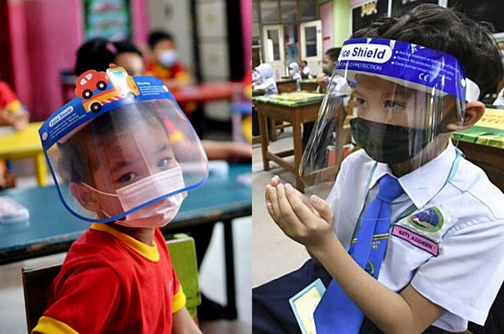 MOH: Students Under 12 Years Old Can Now Wear Only Face Shields To School