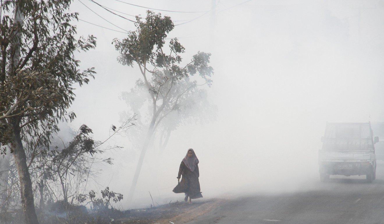 The current haze situation in Banjarbaru, South Kalimantan.
