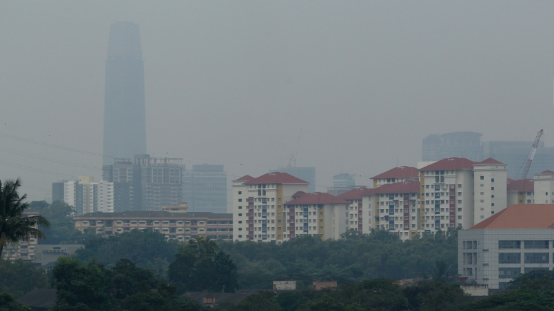 The haze situation in Malaysia as of 1 August.