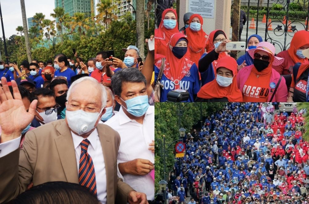 """""""Cluster Jibby"""" – Netizens Lament The Lack Of Social Distancing At Najib Razak's Court Hearing"""