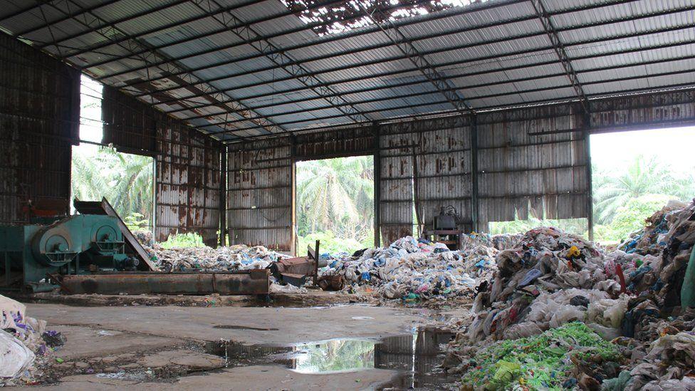 Abandoned recycling factory in Kuala Langat.