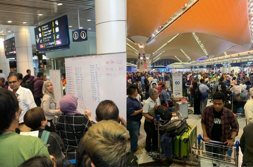 KLIA Systems Still Down, More Flights Delayed, Passengers Advised To Arrive 4 Hours Earlier