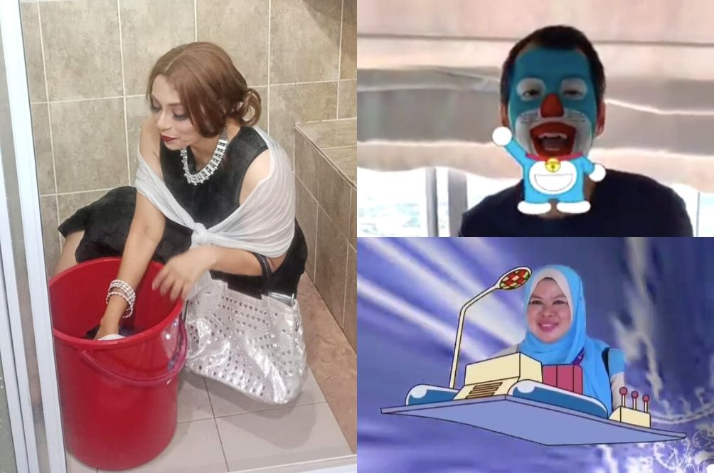 Malaysians Turn Into Doraemon, Makeup-Wearing Housewives Thanks To KPWKM's Advice