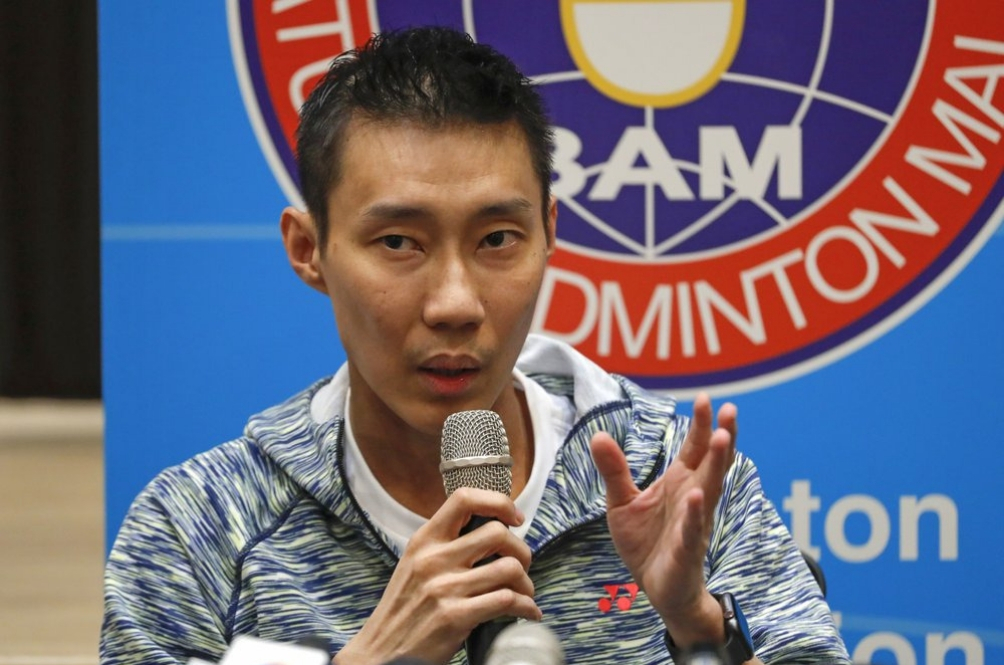 Lee Chong Wei during the press conference.