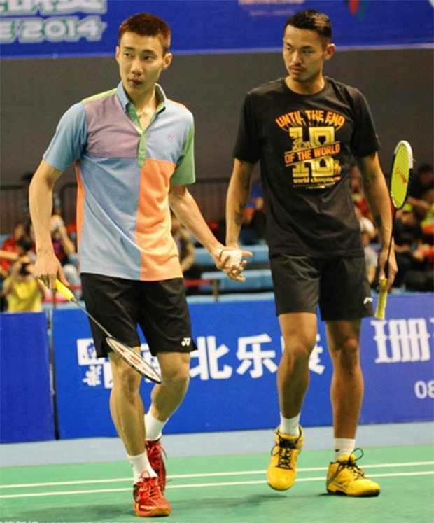 Rivals... until the end of the world just like Lin Dan's shirt says.