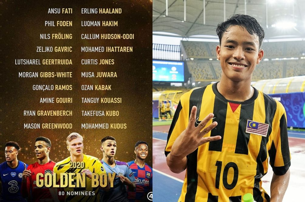 18-Year-Old Kelantanese Luqman Hakim Nominated For The 2020 Golden Boy Football Award