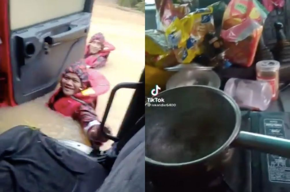 Netizens Amused With Flood Victim Who Wants To Eat Maggi First Before Being Rescued By Abang Bomba