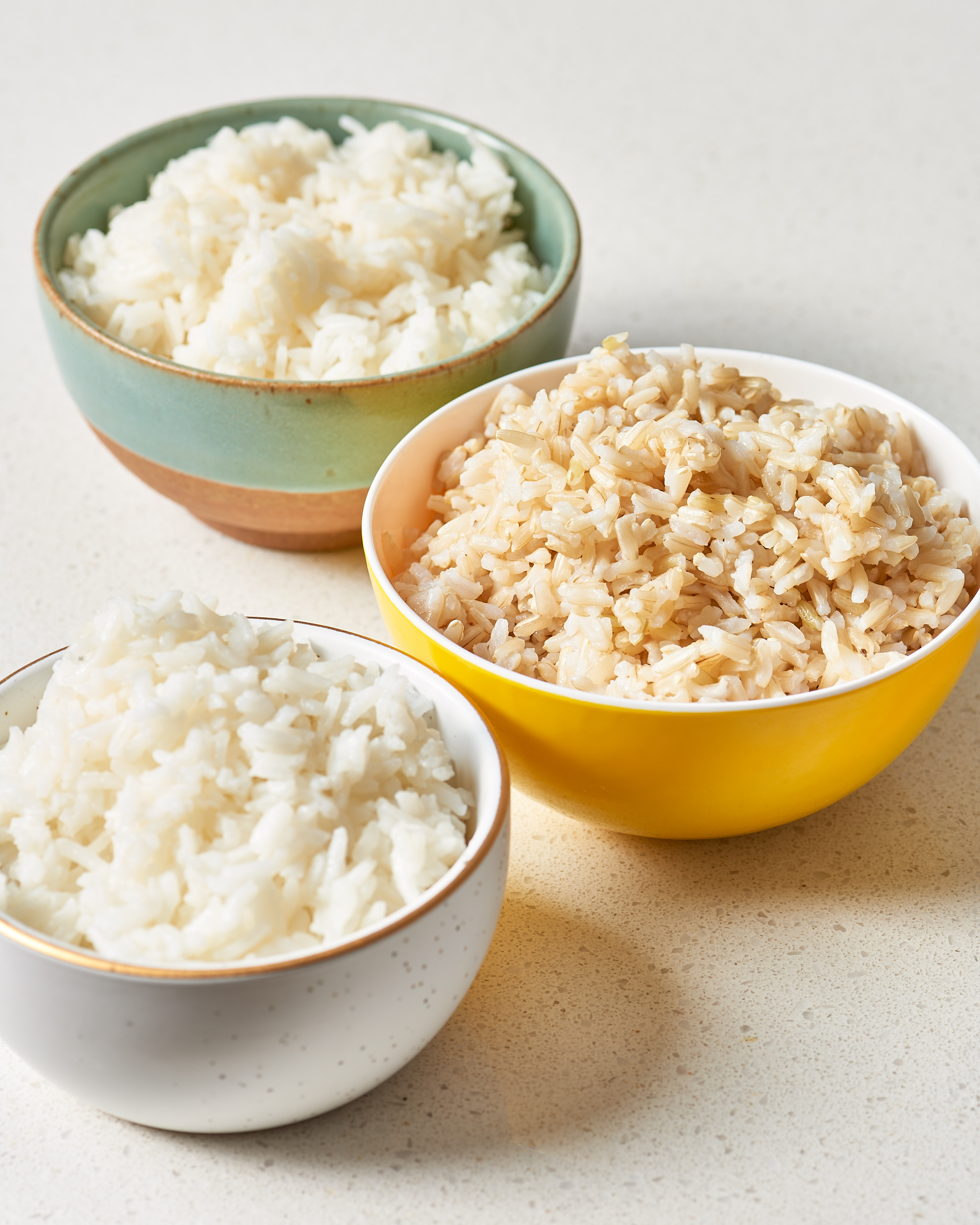 White rice, Basmati rice, brown rice, we love them all!