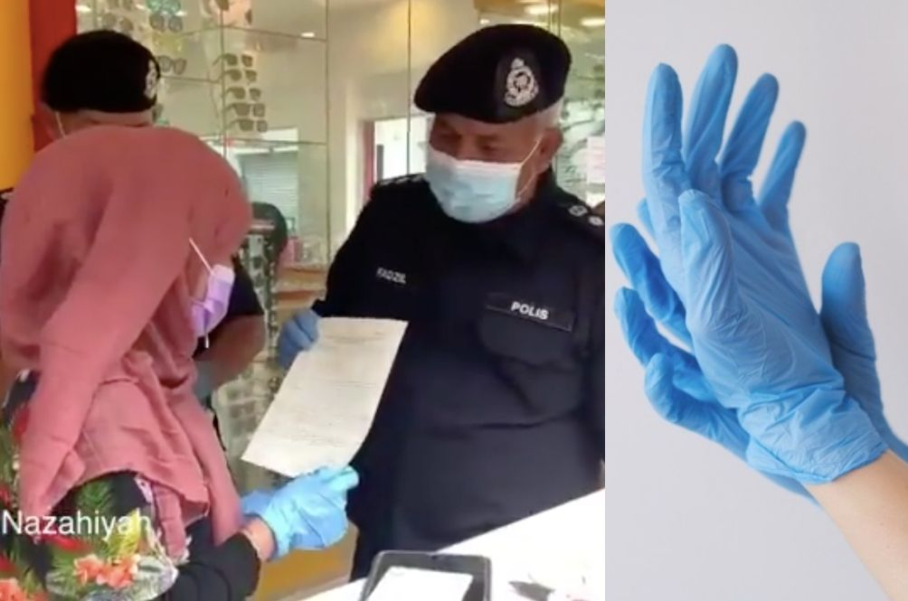 [VIDEO] Netizens Fuming As Policeman Says Woman Breached SOP For Not Wearing Gloves