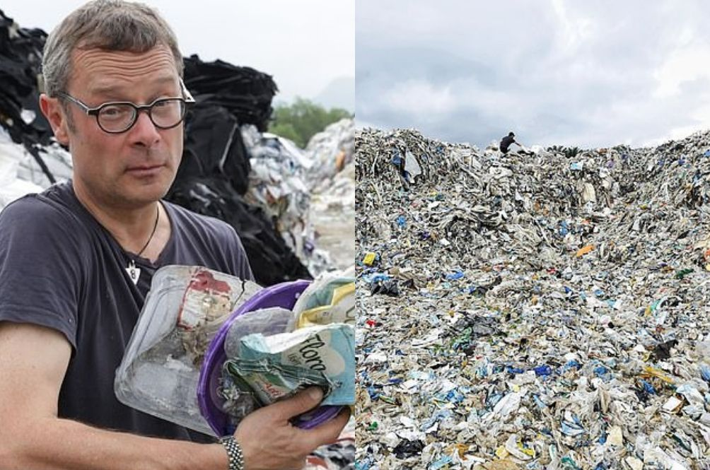 UK TV Presenter Discovers 6-Metre Tall Plastic Waste From Britain Near Ipoh Wasteland