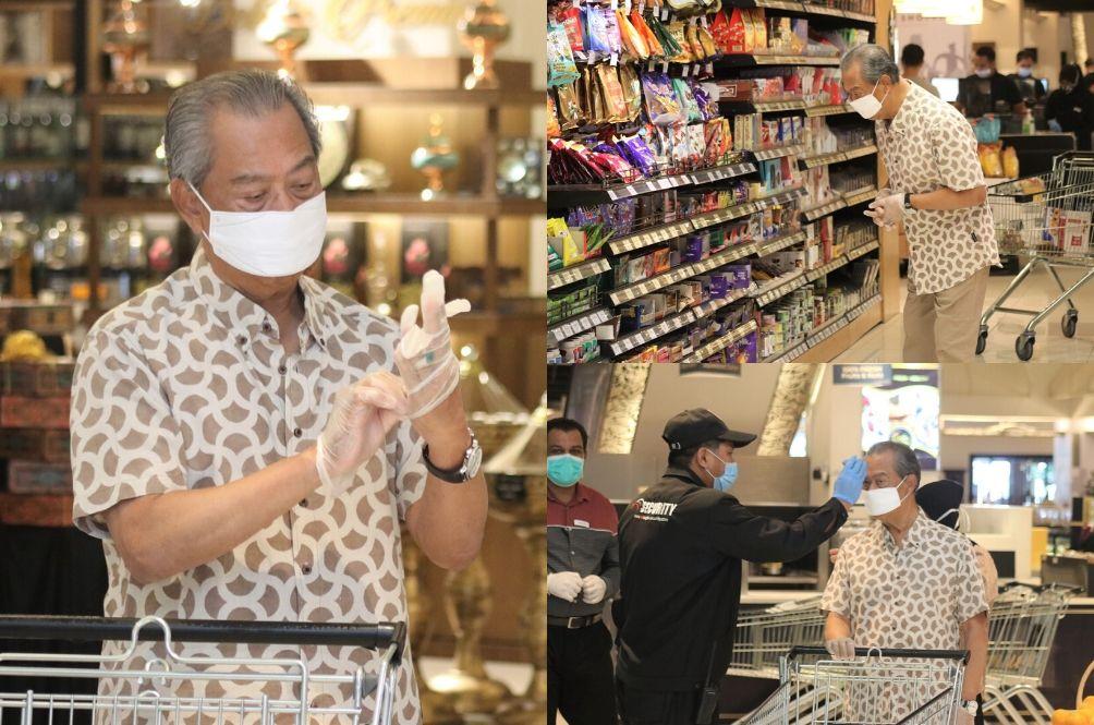[PHOTOS] PM Muhyiddin Yassin Goes Grocery Shopping, Netizens Impressed