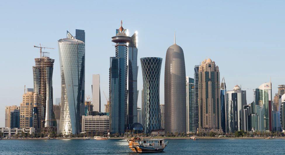 The Qatar skyscrapers.
