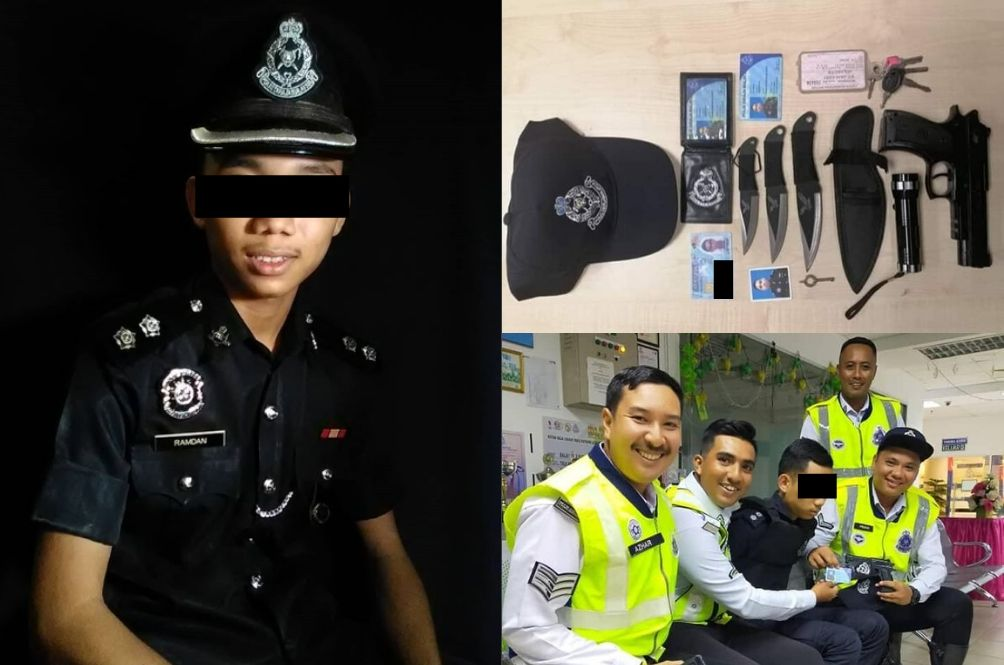 19 Y/O M'sian Boy Arrested For Impersonating Cop, Was Very Obsessed To Become One