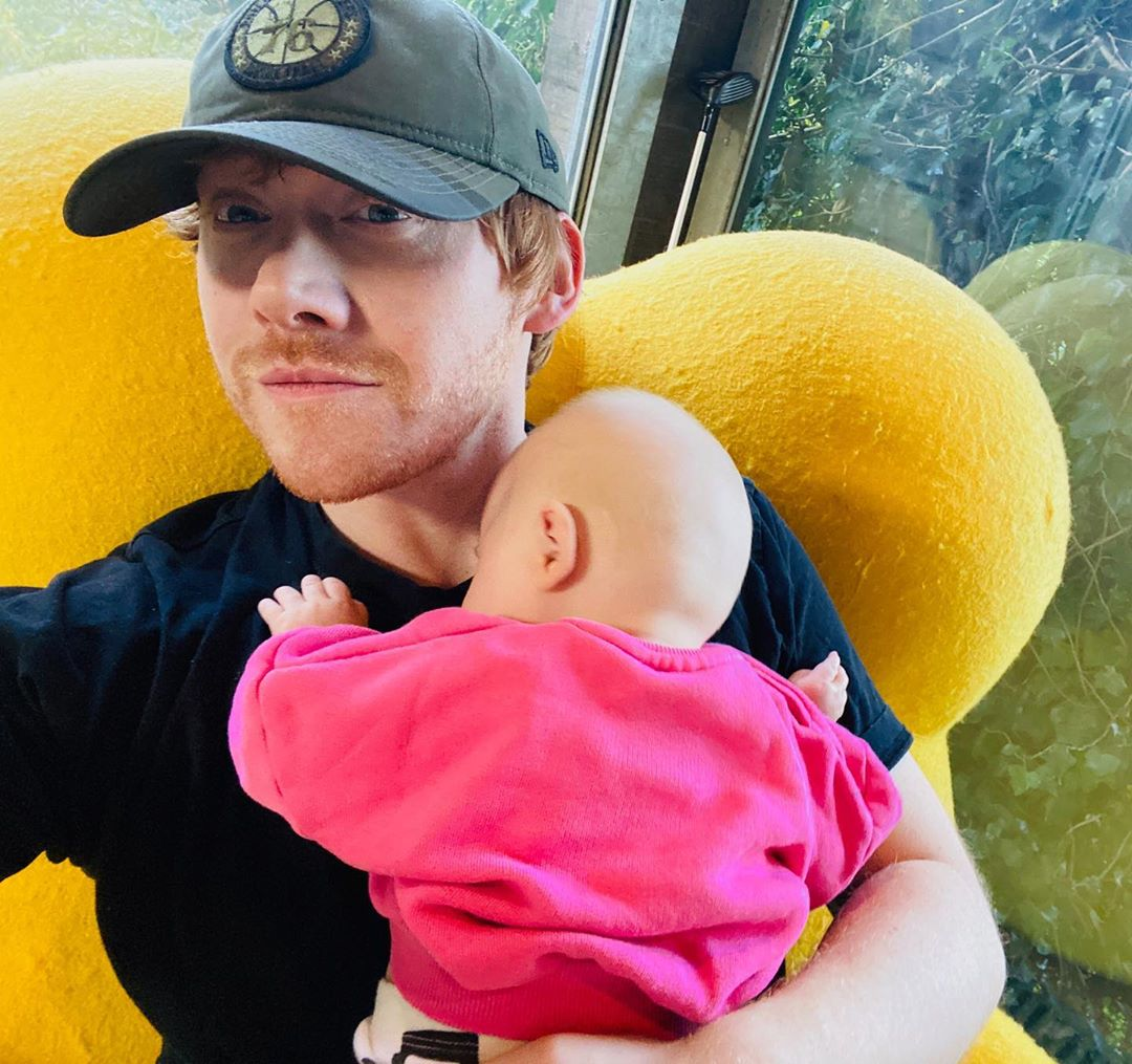 Last year, Grint welcomed his daughter with girlfriend, Georgia Groome.