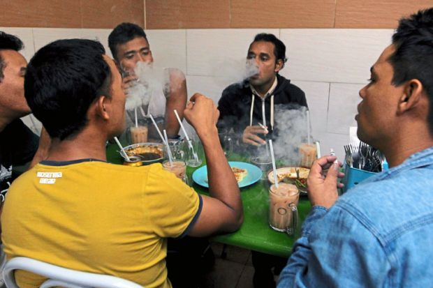 Here's to a smoke-free environment at restaurants!
