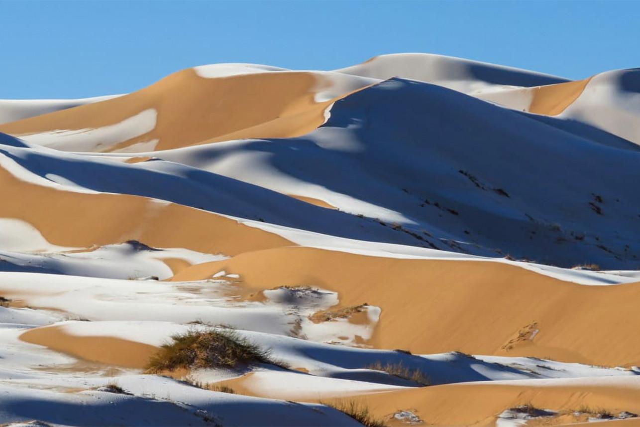 Icy dunes.