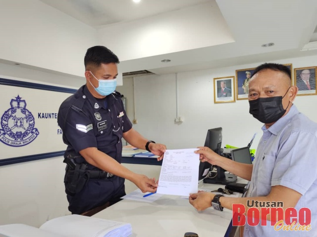 Two police reports were lodged against the man.