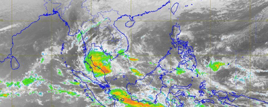 Satellite image showing Pabuk's movements.