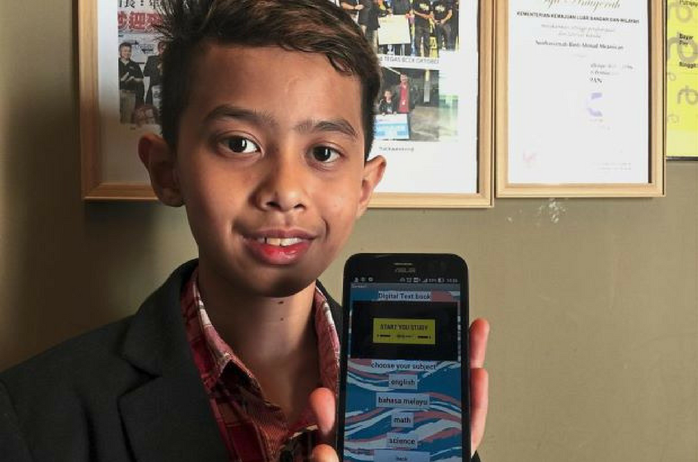 This 13-Year-Old Sarawakian Student Just Developed A Digital Textbook App